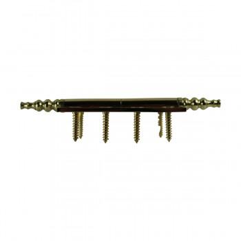 "<PRE>4"" Lift Off Right Brass Door Hinge Vintage Steeple Tip </PRE>zoom9"