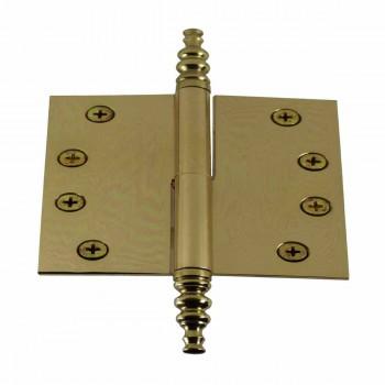 "<PRE>4"" Lift Off Right Brass Door Hinge Vintage Steeple Tip </PRE>zoom1"
