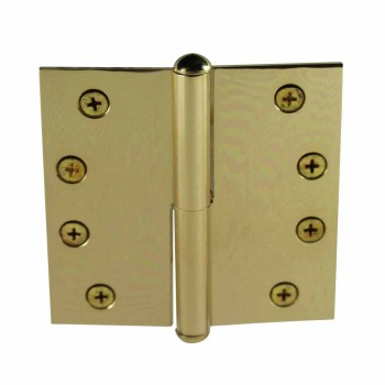 4in Lift Off Right Brass Door Hinge Vintage Button Tip 15069grid