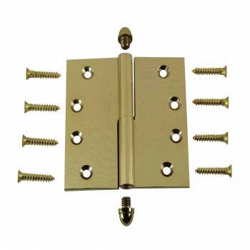 <PRE>4inch Lift Off Right Brass Door Hinge Vintage Helmet Tip </PRE>zoom3