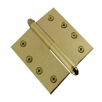 <PRE>4inch Lift Off Right Brass Door Hinge Vintage Helmet Tip </PRE>zoom4