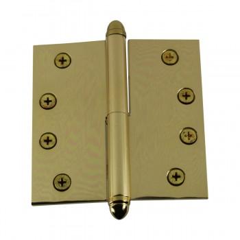 <PRE>4inch Lift Off Right Brass Door Hinge Vintage Helmet Tip </PRE>zoom6