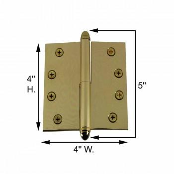spec-<PRE>4inch Lift Off Right Brass Door Hinge Vintage Helmet Tip </PRE>