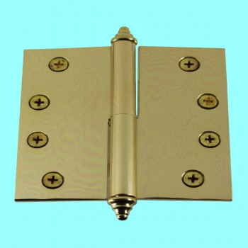 <PRE>4 inch Lift Off Right Brass Door Hinge Vintage Decor Tip </PRE>zoom2