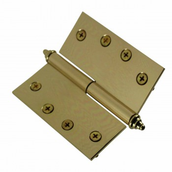 <PRE>4 inch Lift Off Right Brass Door Hinge Vintage Decor Tip </PRE>zoom4