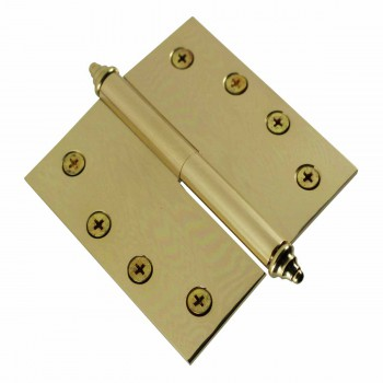 <PRE>4 inch Lift Off Right Brass Door Hinge Vintage Decor Tip </PRE>zoom5