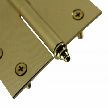 <PRE>4 inch Lift Off Right Brass Door Hinge Vintage Decor Tip </PRE>zoom6