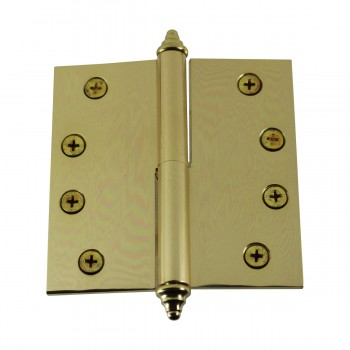 <PRE>4 inch Lift Off Right Brass Door Hinge Vintage Decor Tip </PRE>zoom7