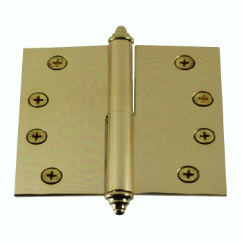 4 inch Lift Off Right Brass Door Hinge Vintage Decor Tip 15071grid