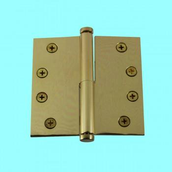 <PRE>4 in. Lift Off Right Brass Door Hinge Vintage Coin Tip </PRE>zoom2