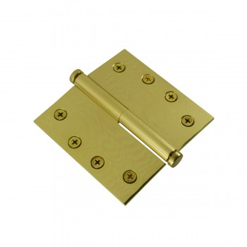 <PRE>4 in. Lift Off Right Brass Door Hinge Vintage Coin Tip </PRE>zoom5
