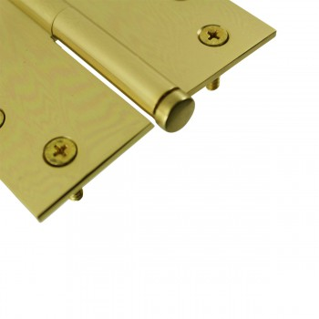 <PRE>4 in. Lift Off Right Brass Door Hinge Vintage Coin Tip </PRE>zoom6