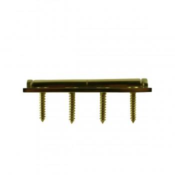<PRE>4 in. Lift Off Right Brass Door Hinge Vintage Coin Tip </PRE>zoom8