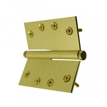 <PRE>4 in. Lift Off Right Brass Door Hinge Vintage Coin Tip </PRE>zoom10