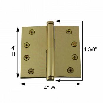 spec-<PRE>4 in. Lift Off Right Brass Door Hinge Vintage Coin Tip </PRE>