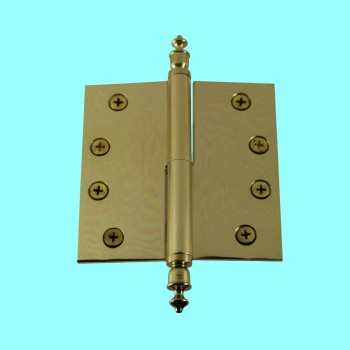 <PRE>4 inch Lift Off Right Brass Door Hinge Vintage Urn Tip </PRE>zoom2