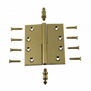 <PRE>4 inch Lift Off Right Brass Door Hinge Vintage Urn Tip </PRE>zoom3
