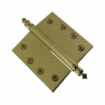 <PRE>4 inch Lift Off Right Brass Door Hinge Vintage Urn Tip </PRE>