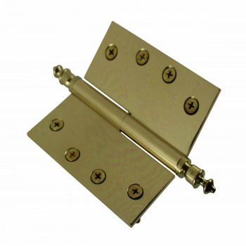 <PRE>4 inch Lift Off Right Brass Door Hinge Vintage Urn Tip </PRE>zoom5