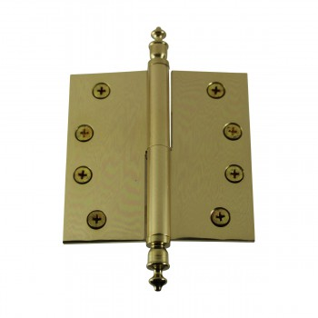 <PRE>4 inch Lift Off Right Brass Door Hinge Vintage Urn Tip </PRE>zoom6