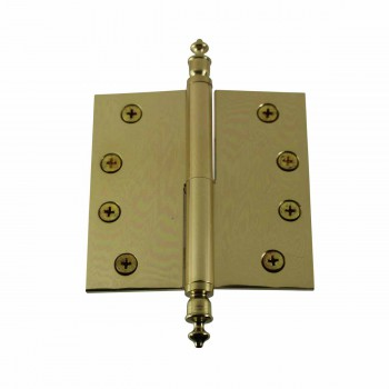 4 inch Lift Off Right Brass Door Hinge Vintage Urn Tip 15074grid