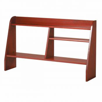 Executive Desk Shelf Hardwood Cherry Stain Finish