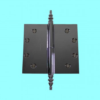 Door Hinges - 5in x 5in Square LOR (with  Steeple Finials) by the Renovator's Supply