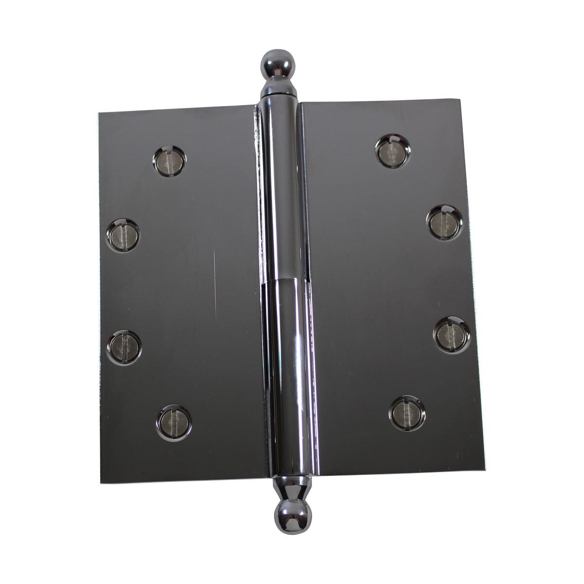 5 in. Lift Off Right Chrome Brass Door Hinge Ball Tip Door Hinges Door Hinge