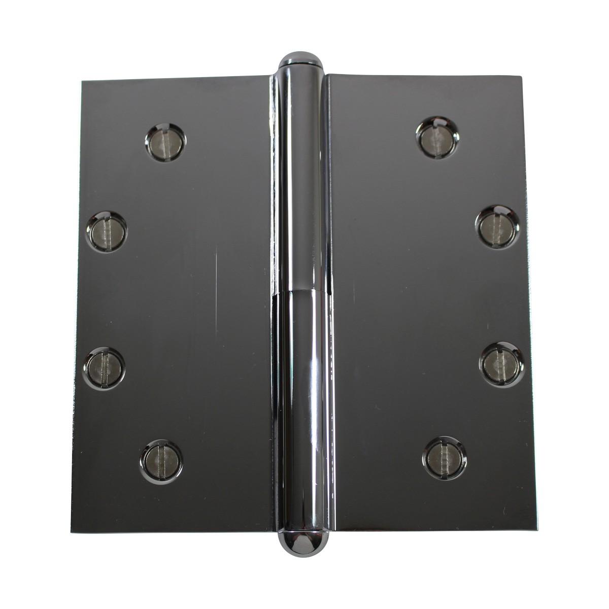 5 in. Lift Off Right Chrome Brass Door Hinge Button Tip Door Hinges Door Hinge Solid Brass Hinge