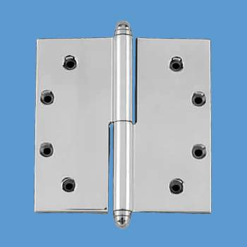 Door Hinges - 5in x 5in Square LOR (with  Helmet Finials) by the Renovator's Supply