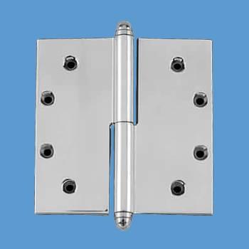 5 in. Lift Off Right Chrome Brass Door Hinge Helmet Tip Door Hinges Door Hinge Solid Brass Hinge