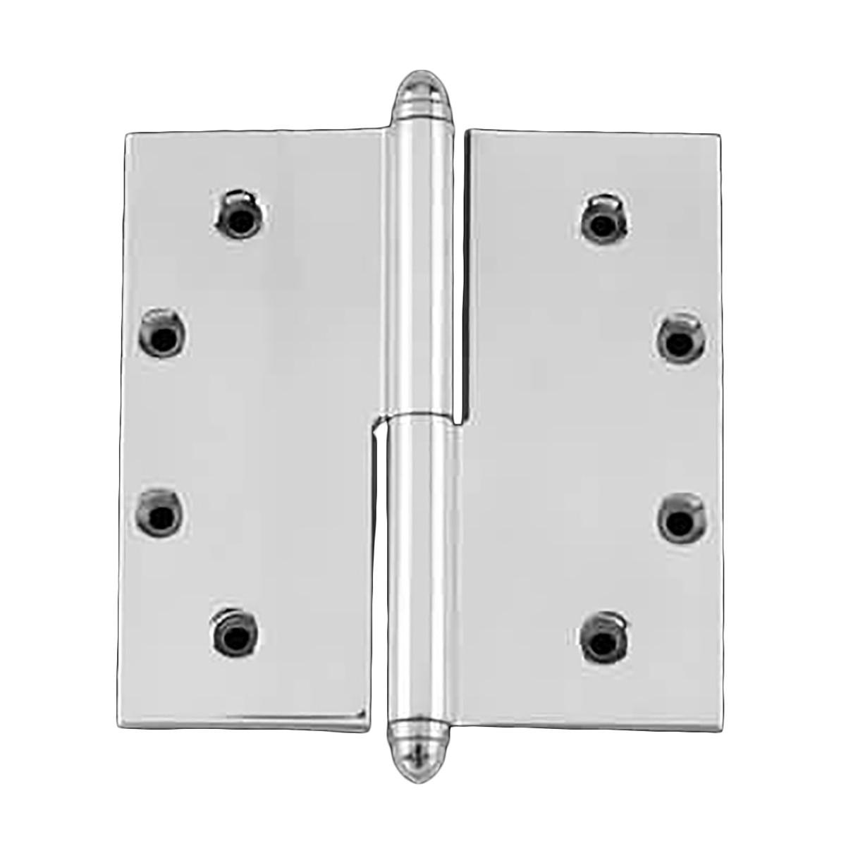 5 in lift off right chrome brass door hinge helmet tip for Front door handle 7 5 inches