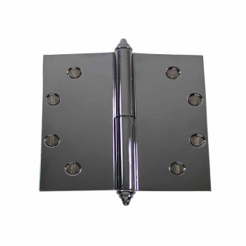 5 in. Lift Off Right Chrome Brass Door Hinge Decor Tip Door Hinges Door Hinge Solid Brass Hinge