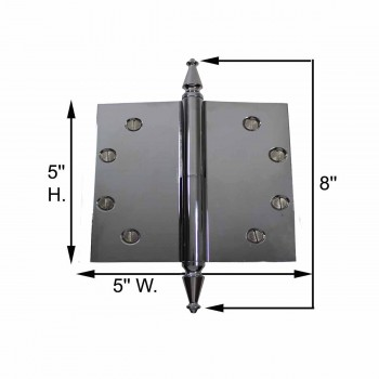 spec-<PRE>5 in. Lift Off Right Chrome Brass Door Hinge Spire Tip </PRE>