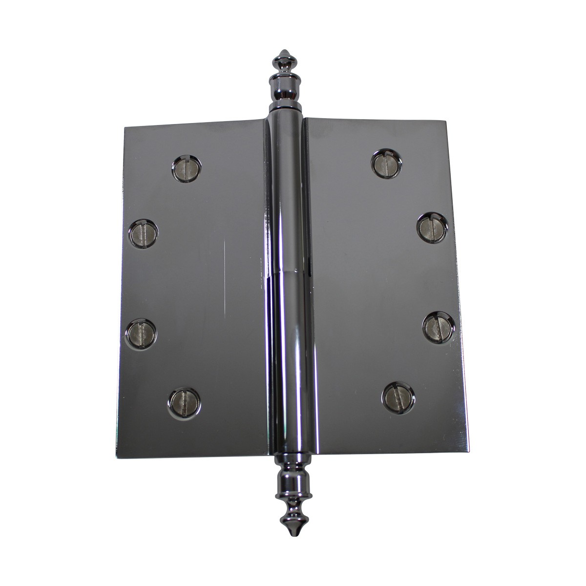 5 in. Lift Off Right Chrome Brass Door Hinge Urn Tip Door Hinges Door Hinge Solid Brass Hinge