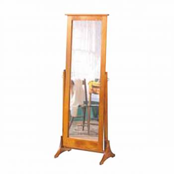 Floor Mirror Honey Pine Large Freestanding 66H X 24W