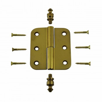 <PRE>2&quot; x 2.5&quot; Lift Off Right Cabinet Hinge Radius Brass Urn Tip </PRE>