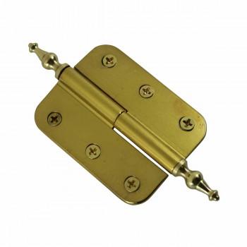 <PRE>2in x 2.5 Lift Off Right Cabinet Hinge Radius Brass Temple </PRE>