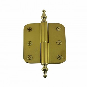 2in x 2.5 Lift Off Right Cabinet Hinge Radius Brass Temple 15166grid