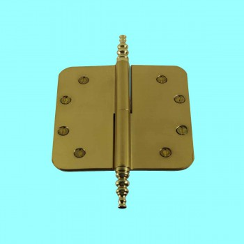 <PRE>5inch Lift Off Right Brass Door Hinge Radius Steeple Tip </PRE>zoom2
