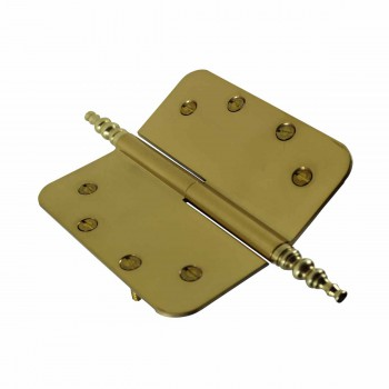 <PRE>5inch Lift Off Right Brass Door Hinge Radius Steeple Tip </PRE>zoom4