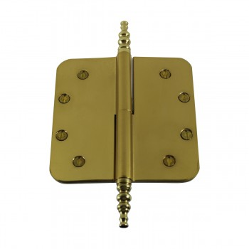 <PRE>5inch Lift Off Right Brass Door Hinge Radius Steeple Tip </PRE>zoom6