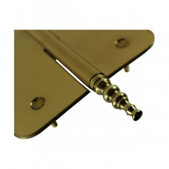 <PRE>5inch Lift Off Right Brass Door Hinge Radius Steeple Tip </PRE>zoom7