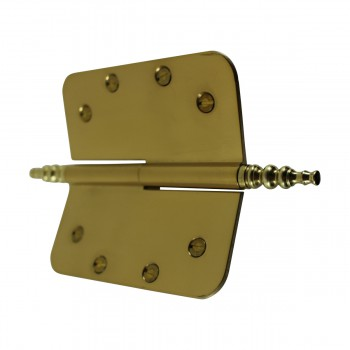 <PRE>5inch Lift Off Right Brass Door Hinge Radius Steeple Tip </PRE>zoom8