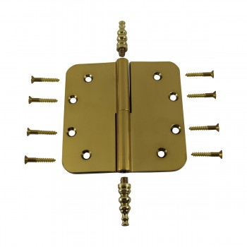 <PRE>5inch Lift Off Right Brass Door Hinge Radius Steeple Tip </PRE>zoom9