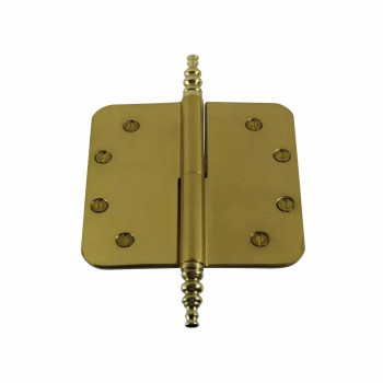 <PRE>5inch Lift Off Right Brass Door Hinge Radius Steeple Tip </PRE>zoom1