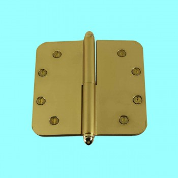 <PRE>5inch Lift Off Right Brass Door Hinge Radius Helmet Tip </PRE>zoom2