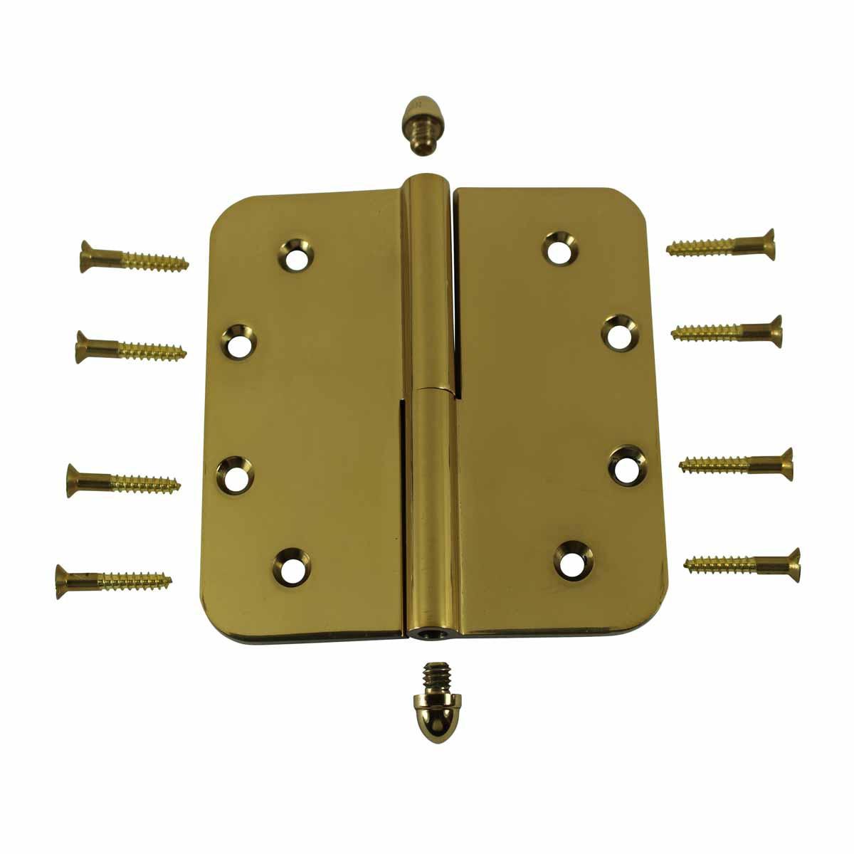 5inch Lift Off Right Brass Door Hinge Radius Helmet Tip Door Hinges Door Hinge