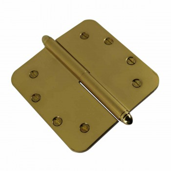 <PRE>5inch Lift Off Right Brass Door Hinge Radius Helmet Tip </PRE>zoom4