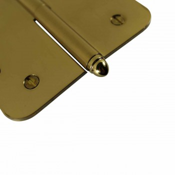 <PRE>5inch Lift Off Right Brass Door Hinge Radius Helmet Tip </PRE>zoom5